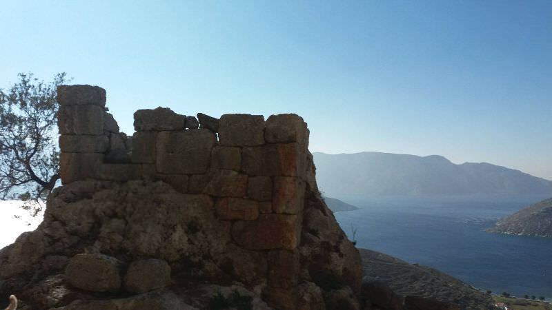 Kastri, the ancient ruins above the village